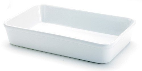 HIC Rectangular Baking Dish and Lasagna Pan, Fine White Porcelain, 9-Inches x 6-Inches x 1.75-Inches