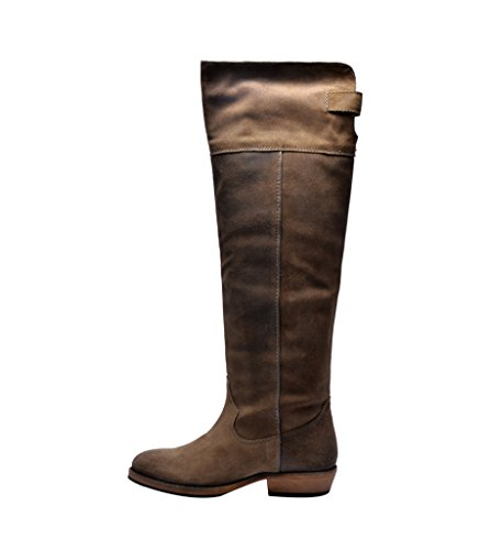 Mustang Kuja-Parish Women's Mustang Leather Boots (Yellow)