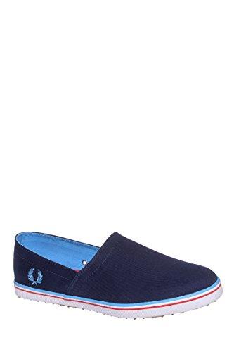 Fred Perry Men's Kingston Stampdown Sneaker Carbon Blue 8 M