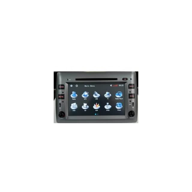 Chilin Car DVD for (2005 2011) Fiat Stilo High Inch Touchscreen Double DIN Car DVD Player & In Dash GPS Navigation System