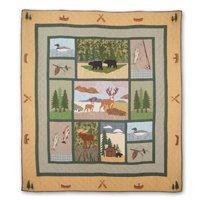 "Lodge Fever Quilt King 105""x 95"" QKLGFV by Patch Magic"