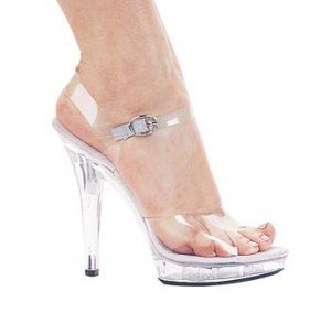 M-Brook, 5 Inch Clear Sandal, by Ellie Shoes