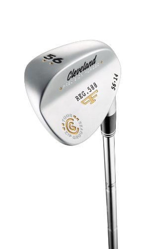Cleveland Golf Men's 588 Forged Satin Wedge, High Bounce (Right-Handed, 58 Degree, Steel Shaft)