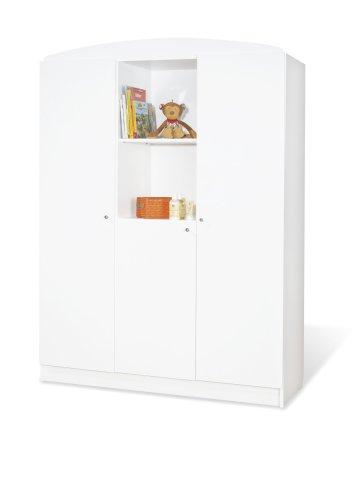 Pinolino-Kleiderschrank-Jil-gro-moderner-3-triger-Kleiderschrank-mit-2-offenen-Fchern-wei-Mae-135-x-53-x-190-cm-Art-Nr-14-00-90-G