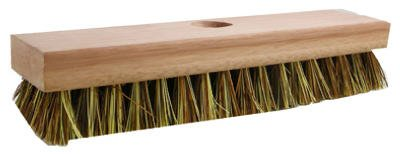 Quickie Mfg 223T Professional Wood Block Deck Scrub Brush - Quantity 12