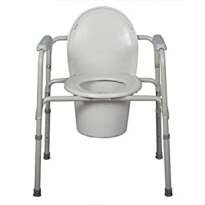 Sale medline deluxe 3 in 1 steel commode toilet safety rails reviews ti 5h - Commode industrielle metal ...