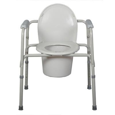 medline deluxe 3 in 1 steel commode toilet safety rails. Black Bedroom Furniture Sets. Home Design Ideas
