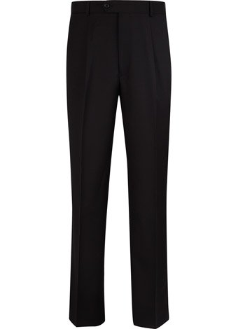 Austin Reed Black Gaberdine Trousers LONG MENS 40