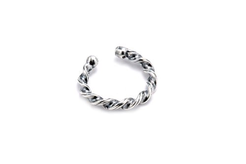 Sterling Silver .925 Curly Twist Design Ear Cuff Wrap Include Special Gift Pouch.