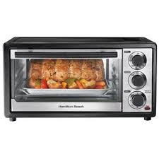 6-slice Toaster Oven, Black and Stainless Steel with Auto Shutoff, Slide Out Crumb Tray, Bake Pan, a Stay on Setting, and Bake, Broil and Toast Settings
