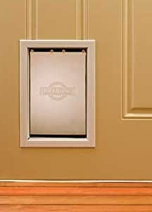 PetSafe Medium Freedom Aluminum Pet Door, Premium White