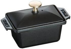 Staub Terrine (15 x 11 xm, 0,7 L, Innen schwarz glänzend) schwarz