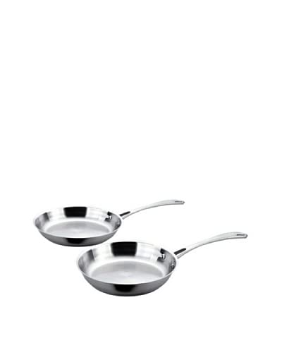 BergHOFF 2-Piece Copper-Clad Stainless Fry Pan Set, Silver