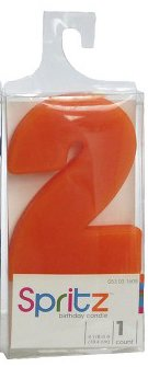 Spritz Molded # 2 Birthday Candle Orange (1 Count) (Cow Wax Warmer compare prices)