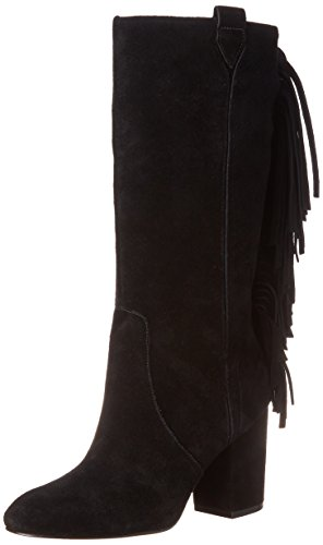Nine West Women'S Jamanji Suede Western Boot, Black, 7 M Us