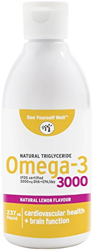 See Yourself Well Omega-3 Fish Oils | Liquid - Lemon, 2000 Mg Epa : 1000 Mg Dha Per 5 Ml/Teaspoon Serving - Ifos Certified 5 Stars - Natural Triglyceride Formula - Rapidly-Absorbed - Purity & Potency Guaranteed. 237Ml/8Oz Bottle