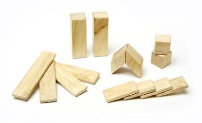 Magnetic Wooden Block Set Tegu Natural, 14 Piece On Sale