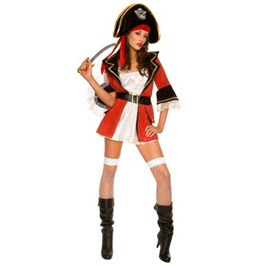 Womens Sexy Pirate Wench Halloween Costume size S/M