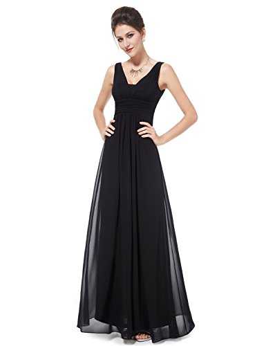 HE08110BK08, Black, 6US, Ever Pretty Wedding Dresses For Guests 08110