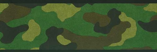 Camouflage Military Army Wallpaper Border