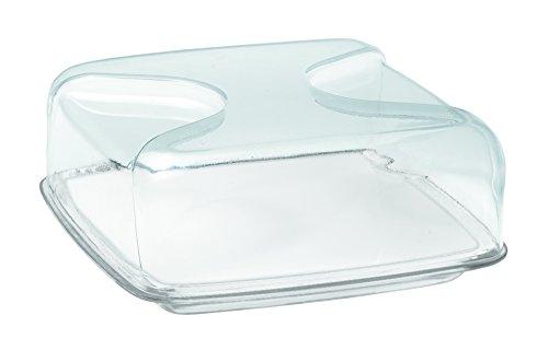 Guzzini 27000000 Cloche à Fromage Carrée Transparent 11,5 x 25,5 x 25,5 cm