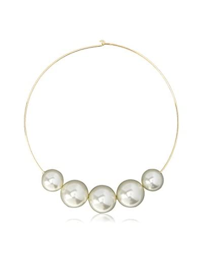 Kenneth Jay Lane Graduated Pearl Bib Necklace