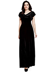 Per Una Cowl Neck Velour Maxi Dress