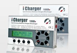 LiPo Balance Battery Charger and Discharger (iCharger 106B+) 1S-6S packs up to 10 amp charge rate Charge and discharge LiPo/LiIo/LiFe/NiCd/NiMH types of RC and other Batteries