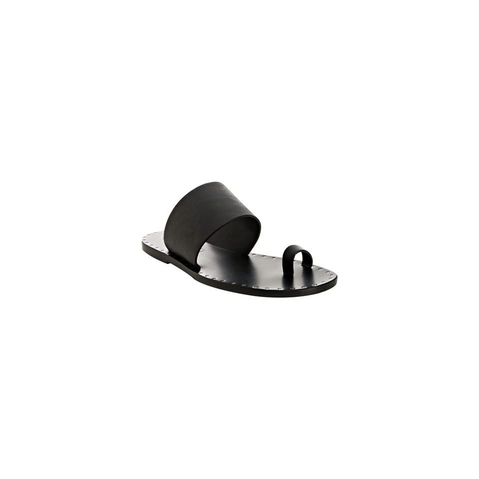 Michael Kors black leather Cage toe ring sandals
