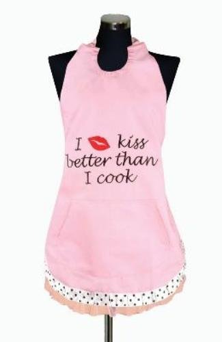 Manual Woodworkers & Weavers Kitchen Apron, I Kiss Better Than I Cook