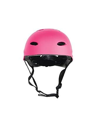 LA Sports Junior Kids / Childs / Childrens PINK Girls Urban Skate Helmet Ideal For Skateboard, BMX and Stunt Scooter by HI Mark