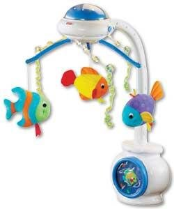 Fisher price ocean wonders baby cot mobile ebay for Fisher price fish bowl