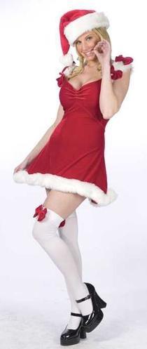 Sexy Red Elf Christmas Costume - Women's Size Medium/Large (10-14)