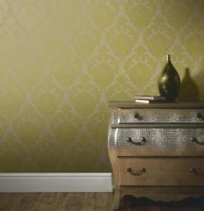 Arthouse Vintage Astoria Wallpaper - Green by New A-Brend