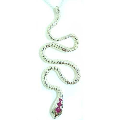 Luxus 925 Sterlingsilber Damen Anhänger (Schlange) – Echt Rubin & Smaragd – Ideal für Weihnachten, Geburtstag, Jubiläum oder Muttertag Geschenk günstig bestellen