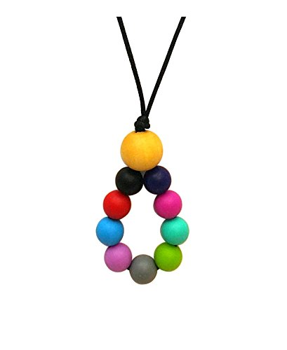 Aenki Silicone Teething Nursing Necklace Rainbow