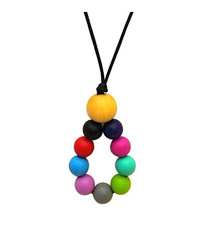 Aenki Silicone Teething Nursing Necklace Rainbow