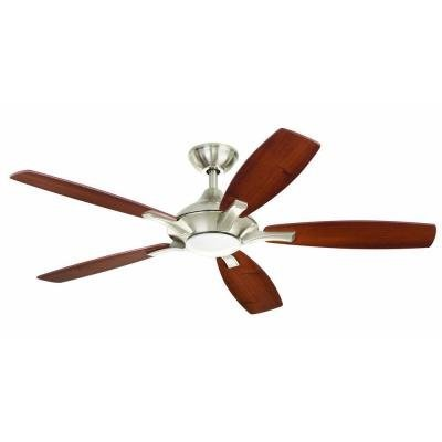 Home Decorators Petersford 52 In. Brushed Nickel LED Ceiling Fan (52 Brushed Nickel Ceiling Fan compare prices)