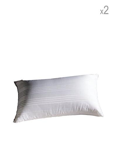 Niucci Coppia Copriguanciale Cotton D'Oro Bianco 50×80 cm
