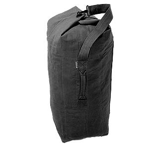 Heavy Duty Black Military Army Style Canvas Large Kit Bag / Holdall
