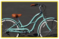 Aluminum frame, Fito Brisa Alloy 7-speed - Sky Blue, women's 26