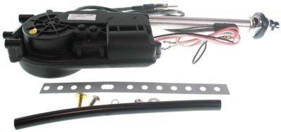 Evan-Fischer EVA39972032650 Antenna Power Polished 5-section mast 12-volt 3 wires 800 mm extension