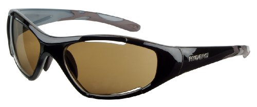 Ryders Eyewear Swerve Pro Sunglasses, Gloss Black Frame With Brown Photochromatic Polarized Lens