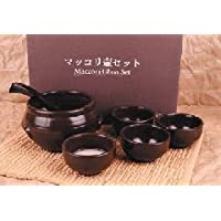 マッコリ用甕酒器セット(韓国産)陶器(翌日出荷可)