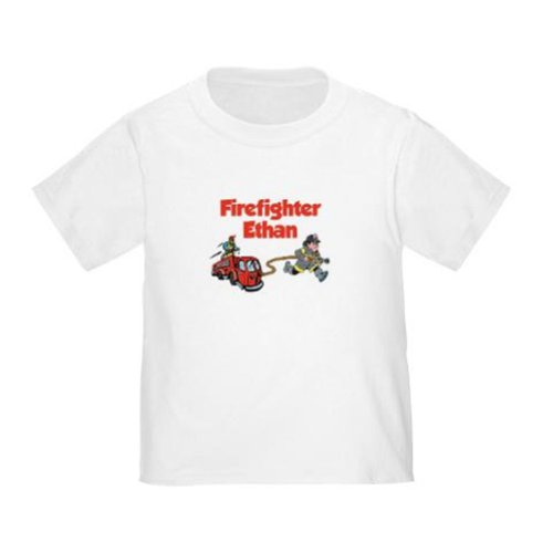 Personalized Firefighter Fireman Shirt Customize With Any Boy Or Girl Name front-882140