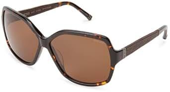 Tumi Stari STAITOR62 Polarized Round Sunglasses,Tortoise,62 mm