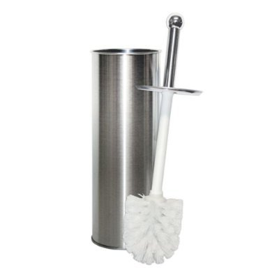 Kennedy Home Collections Stainless Steel Bathroom Toilet Brush Holder - Chrome