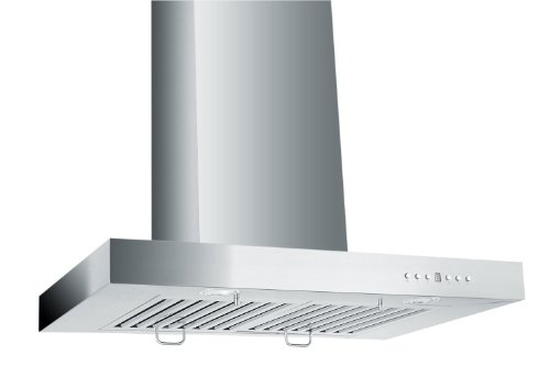 Z Line Zlke36-Led Stainless Steel Wall Mount Range Hood, 36-Inch