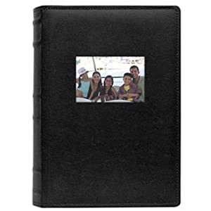 old town bonded leather photo albums 2 pack black holds 300 6x4 photos. Black Bedroom Furniture Sets. Home Design Ideas