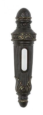 Craftmade Lighting PB3033-AZ Decorative Push Button Door Bell, Antique Bronze Finish